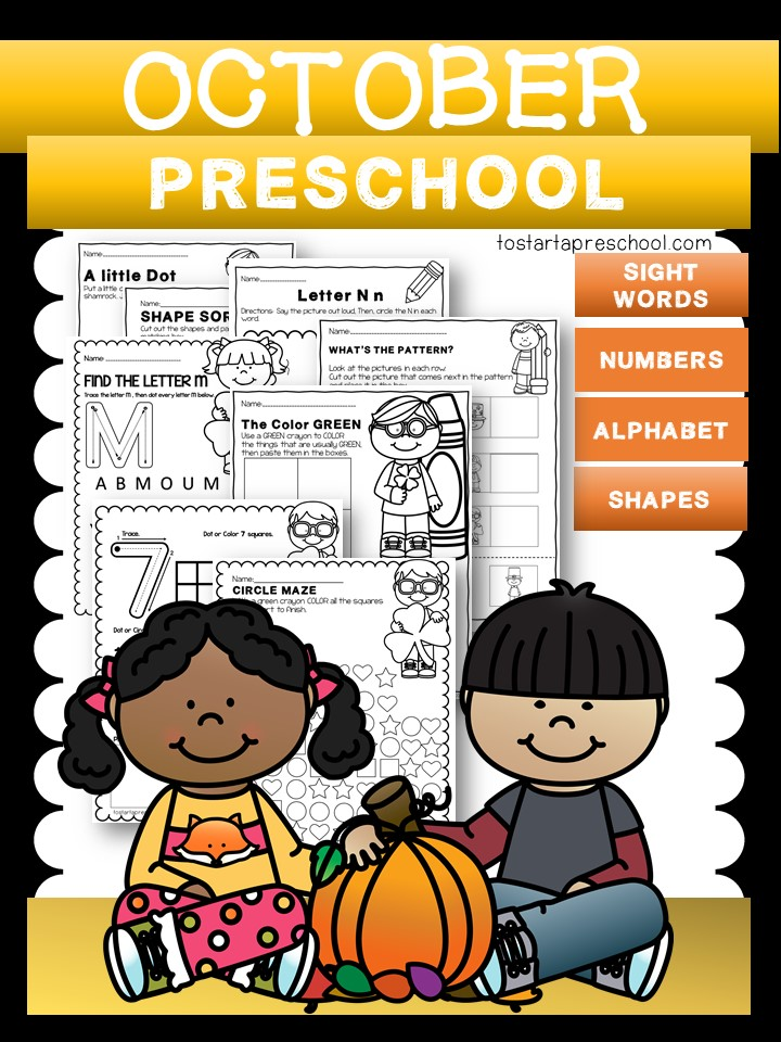 October Preschool Packet